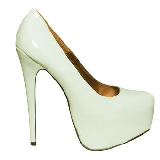 View Item Mint Patent Platform Shoe